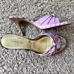 Coach pink Suede heels, size 10B